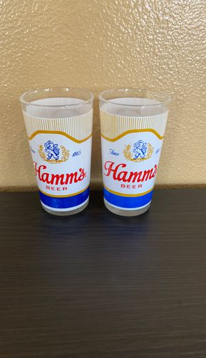 Set of 2 VINTAGE COLLECTIBLE Hamm's LION CREST Since 1865 BEER GLASS GLASSES for Sale in Corona, CA