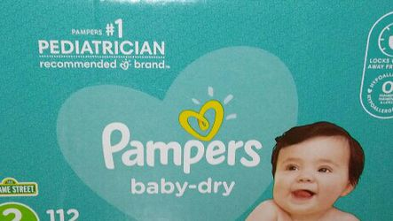 Box pampers baby dry #2 for Sale in Hyattsville,  MD