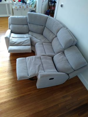 Reclining sectional couch for Sale in Wilmington, MA