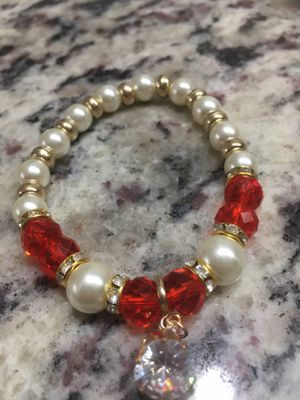 Real Pearl bracelet red beads for Sale in Arlington, TX