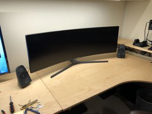 """Samsung 49"""" Curved Gaming Monitor 3840x1080 32:9 144Hz FreeSync HDR C49HG90DMN for Sale in Bellevue, WA"""