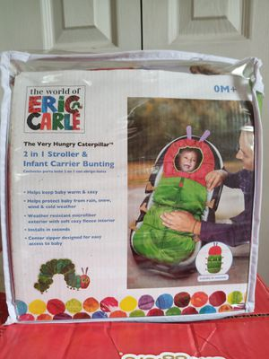 The Very. Hungry Caterpillar, 2 in 1 Stroller and car seat Bunting for Sale in Colorado Springs, CO