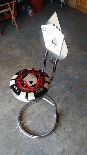 Poker bar stool for Sale in San Bernardino, CA