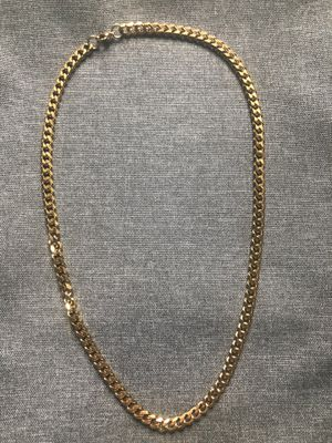 Gold Chain 7 mm Cut Curb Link 24 Inches Gold Plated for Sale in Pittsburgh, PA