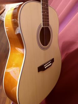 Brand new acoustic guitar, gig bag, extras for Sale in West,  TX