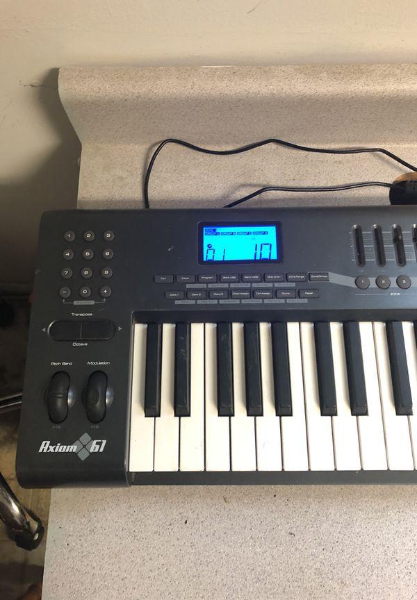 m audio axiom 61 2nd gen midi keyboard for sale in redlands ca offerup. Black Bedroom Furniture Sets. Home Design Ideas