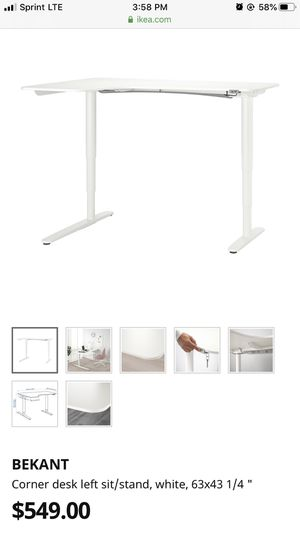 IKEA Bekant left sit/stand desk for Sale in Lakewood, CA