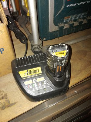 Albion/Milwaukee 12V battery and charger for Sale in Ontario, CA
