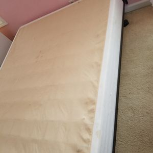 Free Queen Size Bed Frame And Box Spring for Sale in Stonecrest, GA