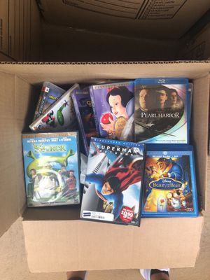 Entire box full of DVDS, Wii games, and PS3 games for Sale in Burbank, CA
