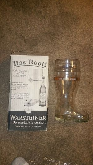 Warsteiner boot beer mug. for Sale in Quincy, IL