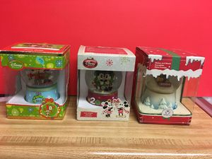 Authentic Disney snow globes 3 to choose for Sale in Glendora, CA