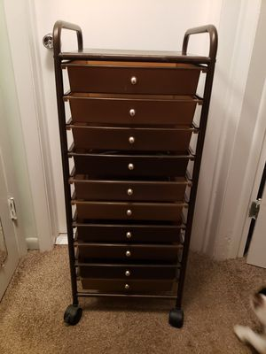 10 Drawer Rolling Cart for Sale in Largo, FL