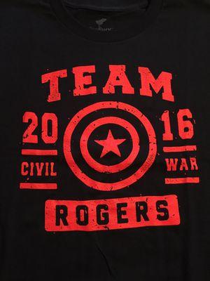 New Marvel Captain America Steve Rogers T-shirt Men's Large Smoke Free home/never worn for Sale in Spring Hill, FL