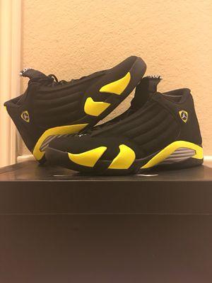 Nike Air Jordan Retro 14 XIV Thunder Black Yellow for Sale in Houston, TX