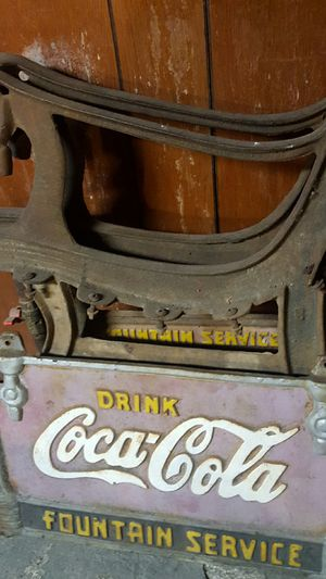 Coca-Cola Fountain Service bench framework for Sale in Lancaster, OH