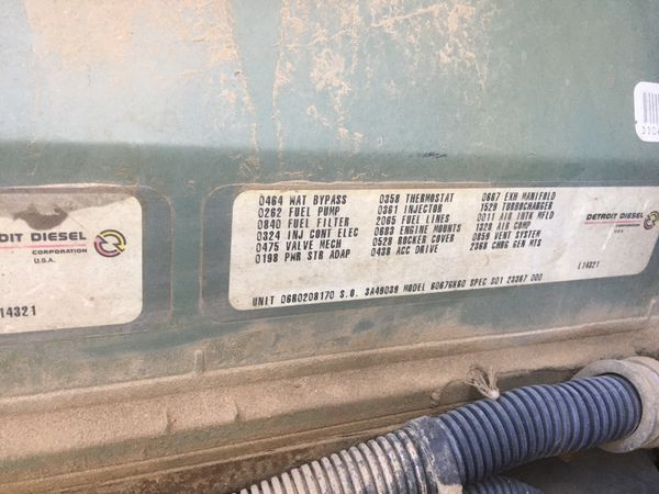 1994 Detroit 12.7 60 series Diesel engine only 9k original miles