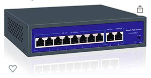 PoE Switch, 8 Port PoE Switch with 2 Uplink Ports, Unmanaged Power Over Ethernet Switch for PoE Cameras, Business Network Switch for Sale in Philadelphia, PA