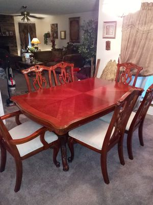 antique kitchen table/ 6 chairs for Sale in Lancaster, TX