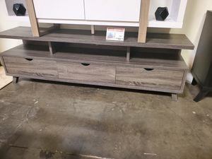 Mirage TV Stand up to 85in TVs, Distressed Grey for Sale in Huntington Beach, CA