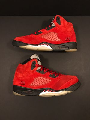 Jordan 5 retro raging bull red suede size 11.5 for Sale in Stafford, VA