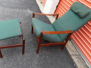 Rosewood chair and ottoman for Sale in District Heights, MD