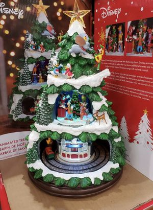 Disney animated Christmas tree with carousel train for Sale in Beverly, MA