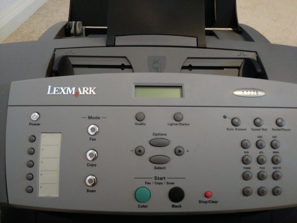 Lexmark X4270 all-in-one office machine (fax, print, and copy)