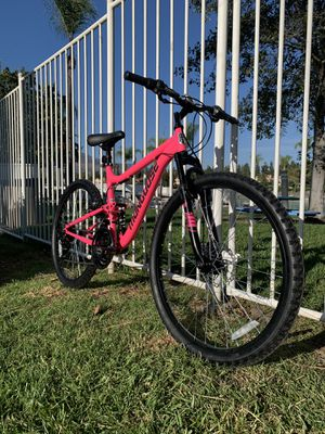 "New awesome hot pink 😎 full suspension disk brakes ladies mongoose women's girls mountain bike 26"" tires for Sale in Chula Vista, CA"