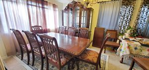 Dining table set with 8 chairs and china hutch and buffet in very good quality and condition for Sale in Henderson, NV