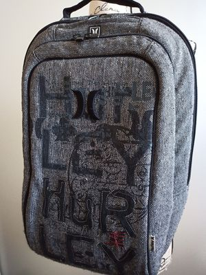 Hurley black and white backpack for computer padded tons of room for Sale in La Jolla, CA