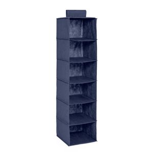Dark Blue Canvas Hanging Cube Closet Organizer for Sale in Coral Springs, FL