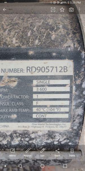 RIDGID GENERATOR #RD905712B for Sale in Baltimore, MD