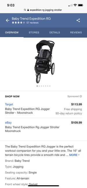 Expedition RG jogger stroller (like new) for Sale in The Bronx, NY