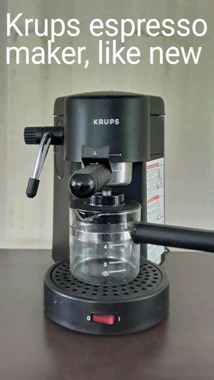 Krups espresso machine in like new condition for Sale in Mt. Juliet, TN