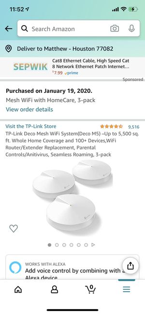 TP-LINK DECO M5 WI-FI MESH ROUTER PODS, CURRENT RETAIL $149.99 for Sale in Houston, TX