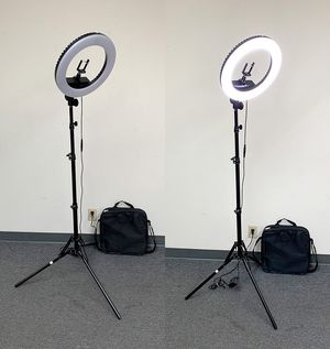 """(NEW) $75 each LED 13"""" Ring Light Photo Stand Lighting 50W 5500K Dimmable Studio Video Camera for Sale in Pico Rivera, CA"""