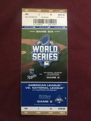 2015 Royals World Series Ticket for Sale in Kansas City, MO