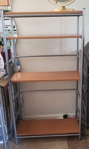 Ikea Wooden Storage Shelving Unit 4 Shelf for Sale in Arvada, CO