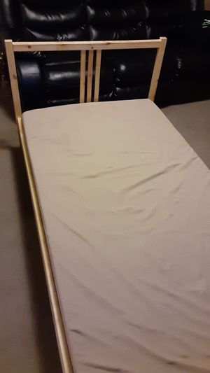 Twin size IKEA Bed frame and mattress for Sale in Pasadena, TX