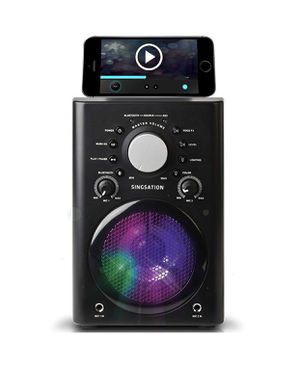 Audio Classic Bluetooth Karaoke system with wireless speaker black player for Sale in Indianapolis, IN