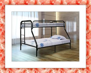 Twin over full bunk bed frame with mattress for Sale in NEW CARROLLTN, MD