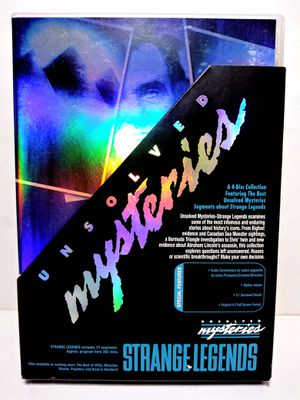 Unsolved Mysteries STRANGE LEGENDS DVD 2005 4-Disc Boxed Set Robert Stack for Sale in Garland, TX
