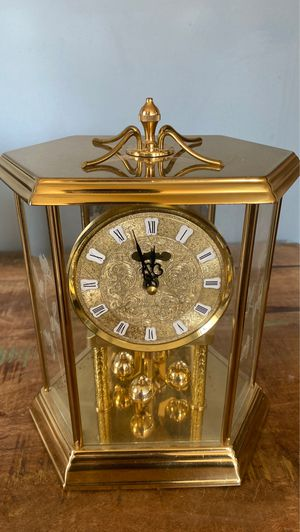 Antique Gold Plated Clock with Roses for Sale in Claremont, CA