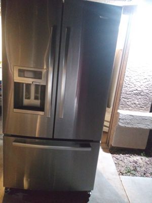 High end Stainless steel kitchen appliances French door refrigerator double oven electric range over the range microwave for Sale in Phoenix, AZ