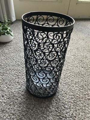 Beautiful large candle holder. Solid black. for Sale in Denver, CO