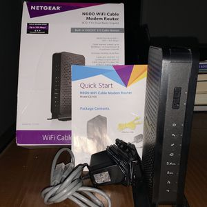Netgear N600 Wi-Fi Cable Modem Router- Works Great! for Sale in Cherry Hill, NJ
