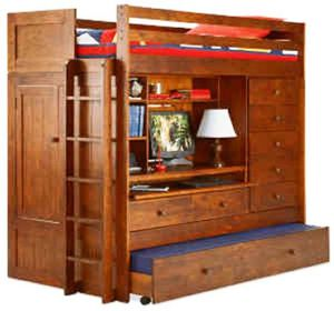 Bunk bed w/ loft,dresser,storage, and trundle for Sale in Puyallup, WA