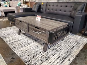 Melody Coffee Table, Distressed Grey and Black, SKU# ID151344TC for Sale in Santa Fe Springs, CA
