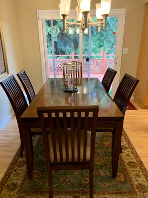 Dining table with 6 chairs for Sale in Kirkland, WA